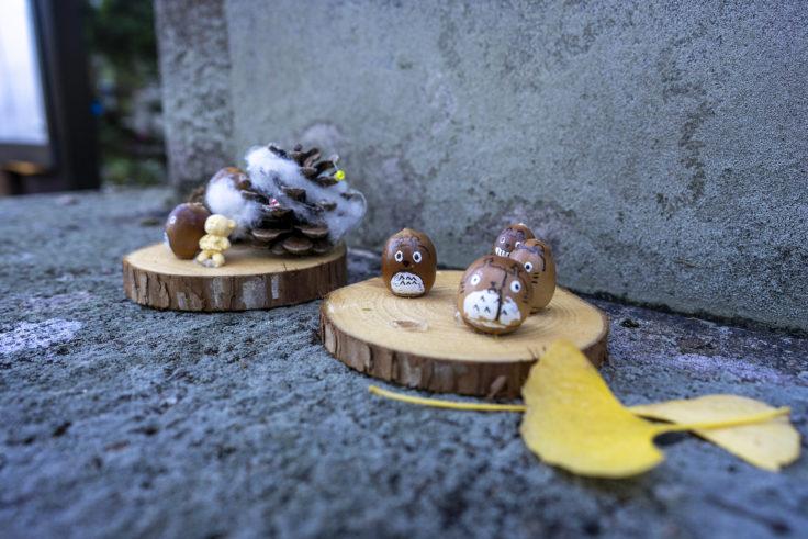 岩部八幡神社のどんぐりアート