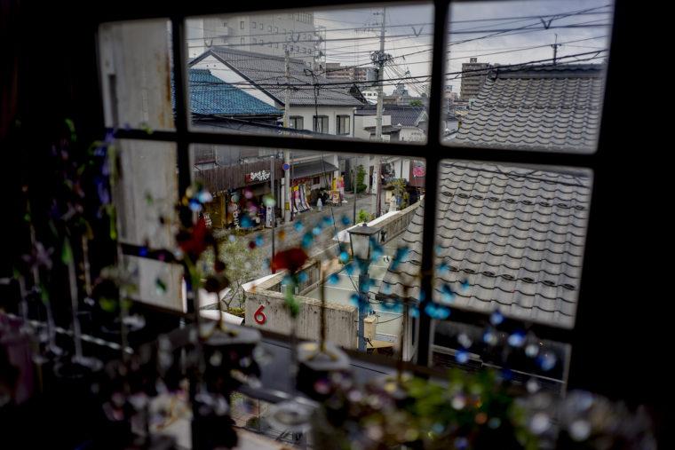 黒壁ガラス館2階からの外の景色