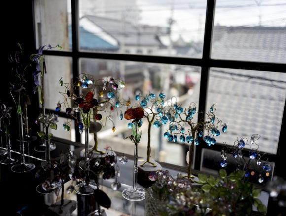 黒壁ガラス館2階のガラス工芸品