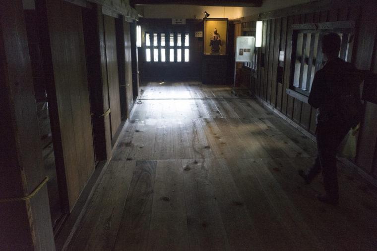 彦根城天守閣廊下