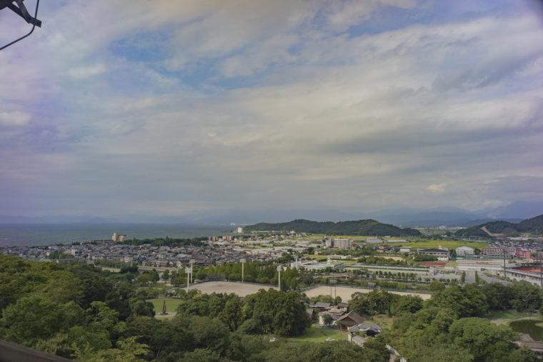 彦根城から見た琵琶湖