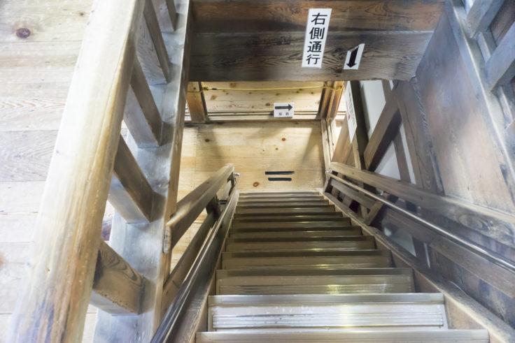 彦根城天守閣階段