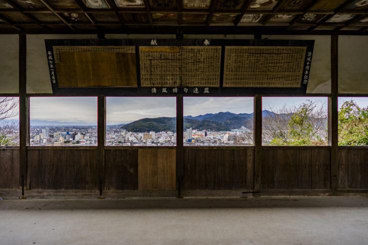 妙見山公園から見た鳴門市