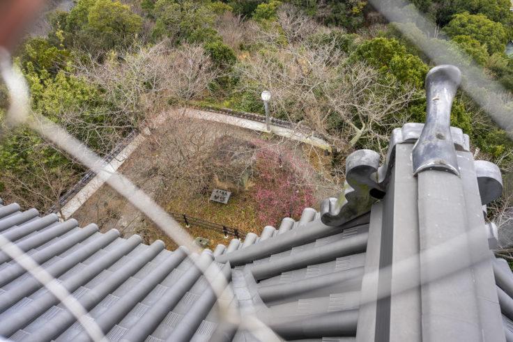 撫養城址トリーデなると展望台から見た庭園