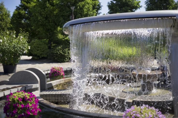 みずの森コミュニティ広場の噴水