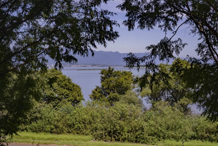 みずの森から見た琵琶湖