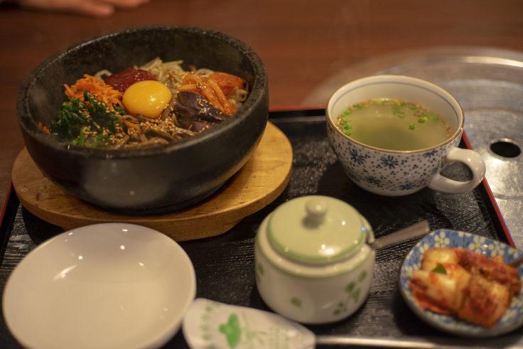 韓国家庭料理サランの石焼ビビンバセット