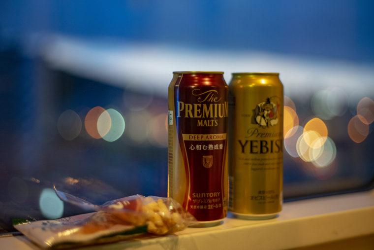 マリンライナーパノラマでビール