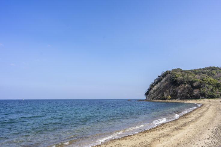 田の浦野営場の海岸