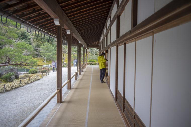 天龍寺書院の廊下
