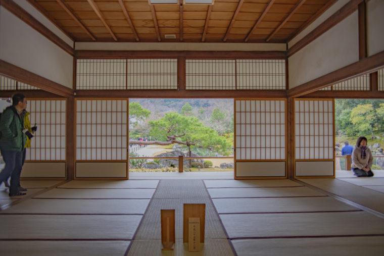 天龍寺書院からの庭園