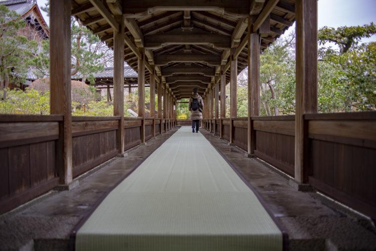 天龍寺多宝殿までの廊下