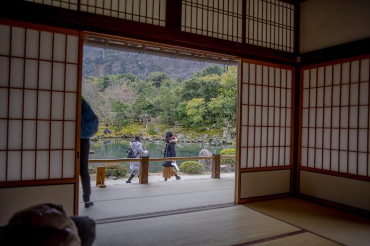 天龍寺書院からの庭園眺め