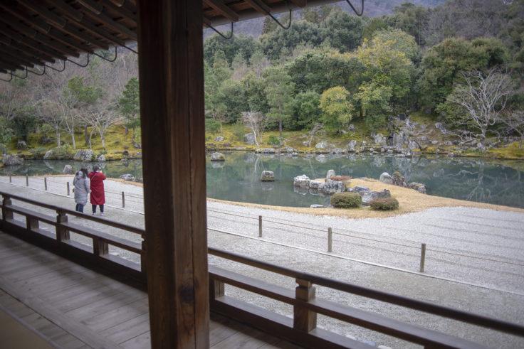 天龍寺大方丈から見た庭園