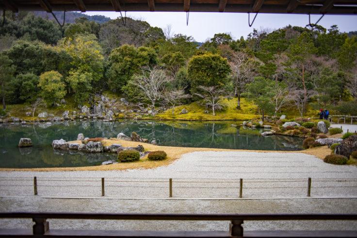 天龍寺大方丈から見た庭園正面