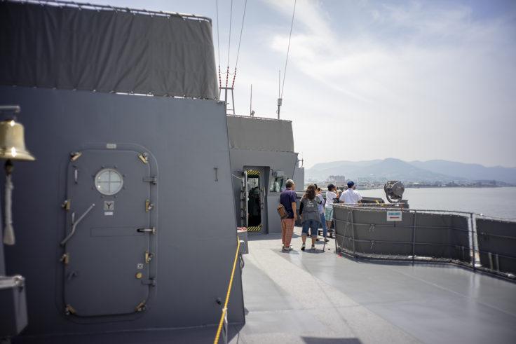 掃海母艦うらがの甲板操縦室