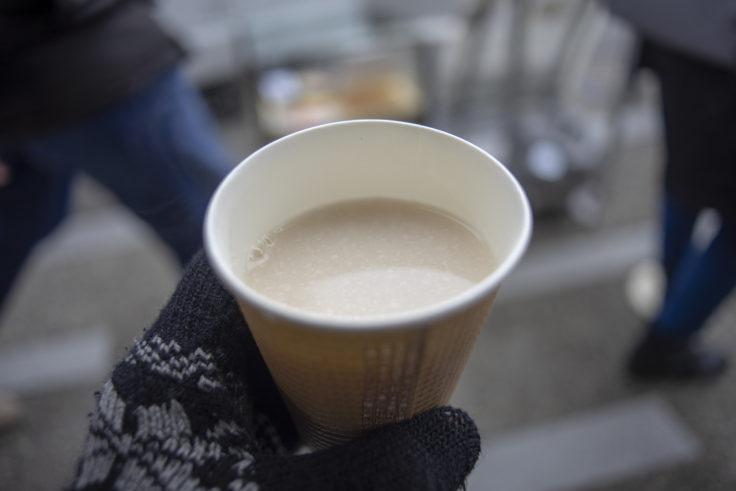 老松嵐山店の甘酒