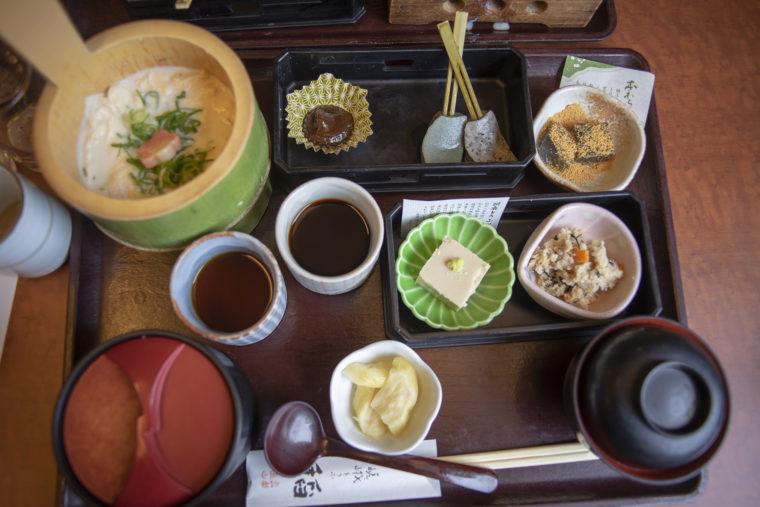 京都嵐山の稲ランチ