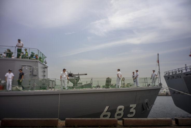 掃海艇あいしまのガトリンクガン