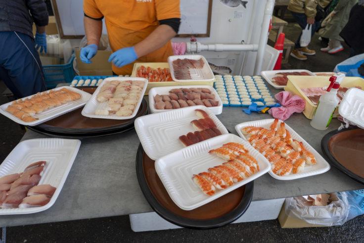 JF北灘さかな市の握り寿司