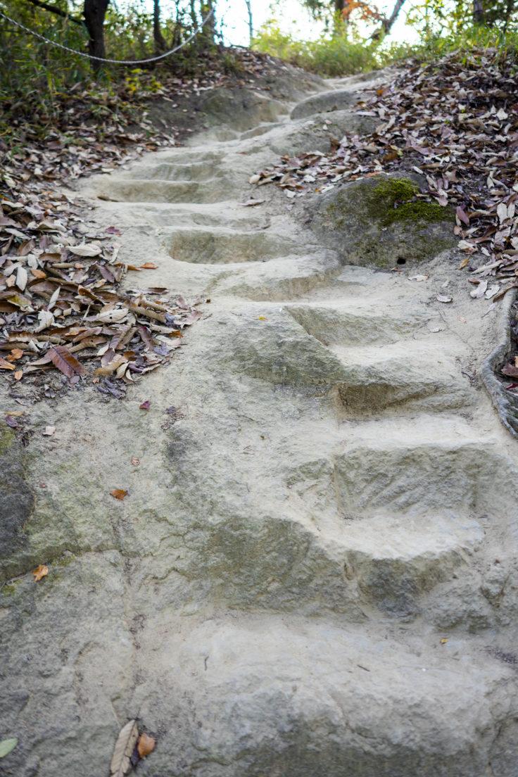 由良山石段2