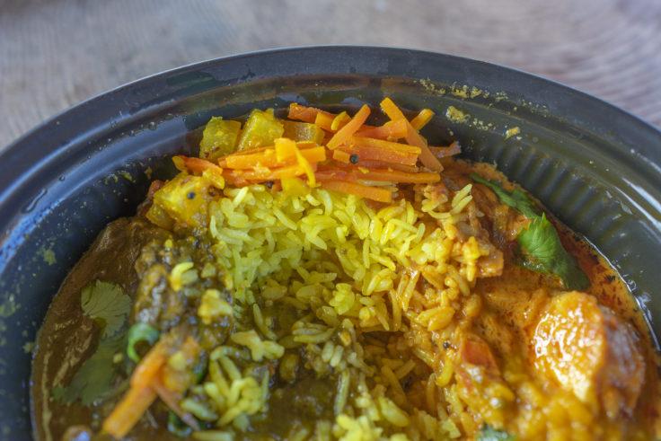 ヒッカリーのあいがけカレーの米