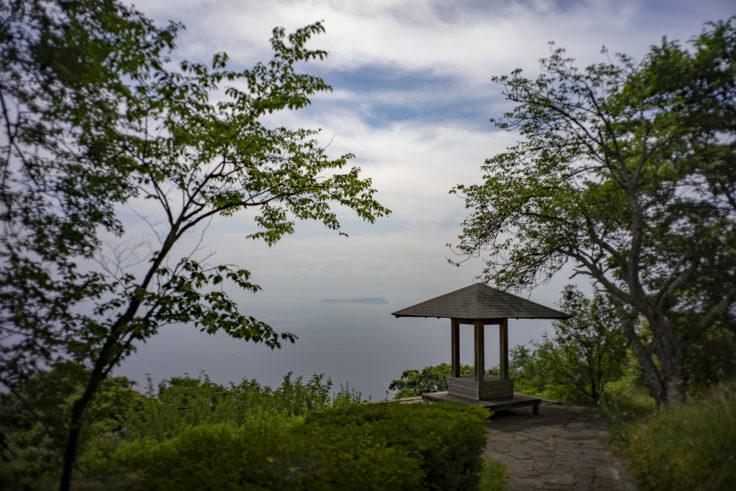 紫雲出山展望台から見た伊吹島