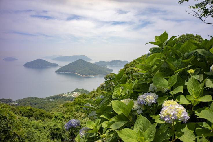 紫雲出山から見た粟島