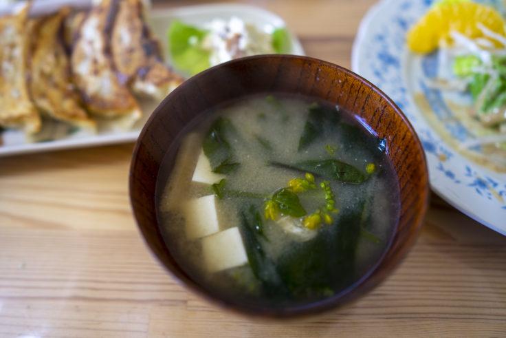 餃子工房古谷の味噌汁