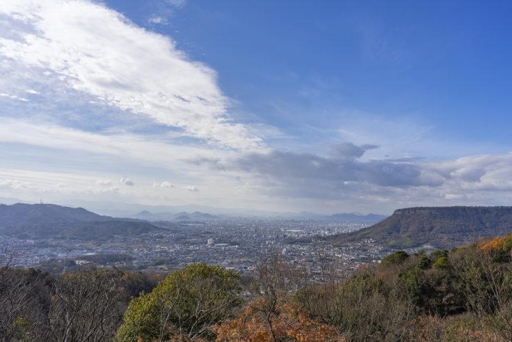 八栗寺から見た高松市