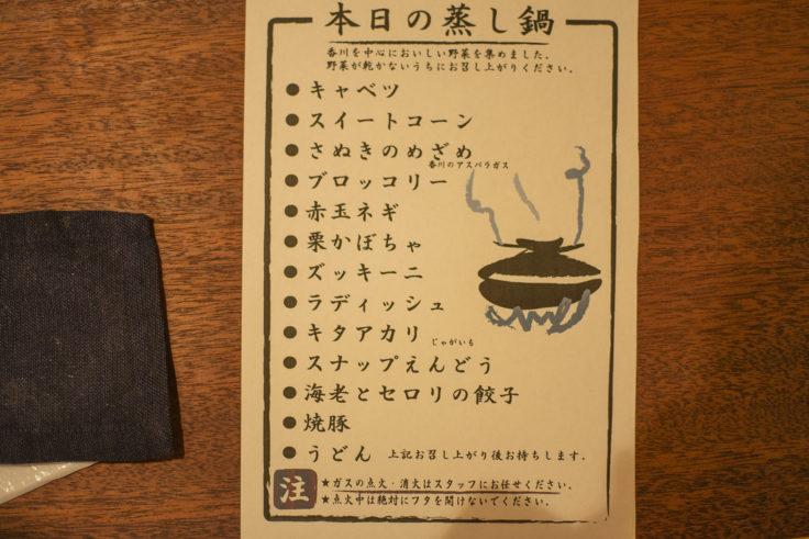 四角家餃子本舗の蒸し鍋餃子内容