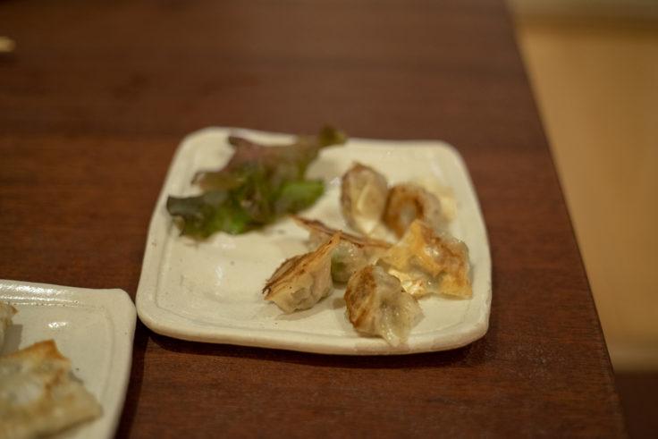四角家餃子本舗の蒸し鍋餃子に付くひとくち餃子