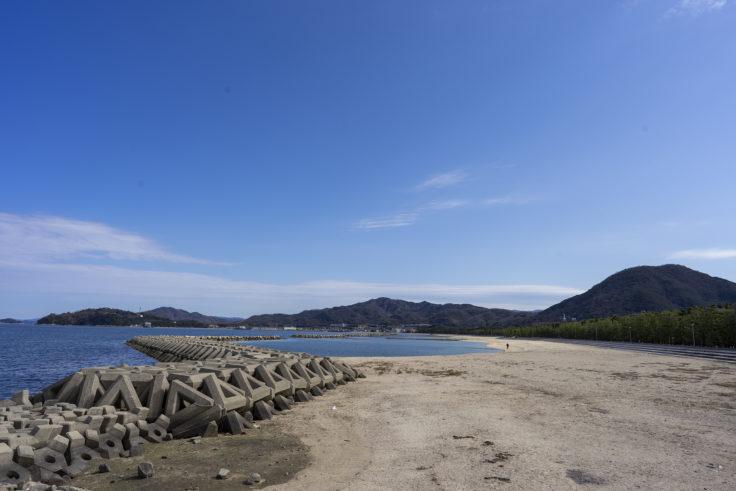 津田の海岸
