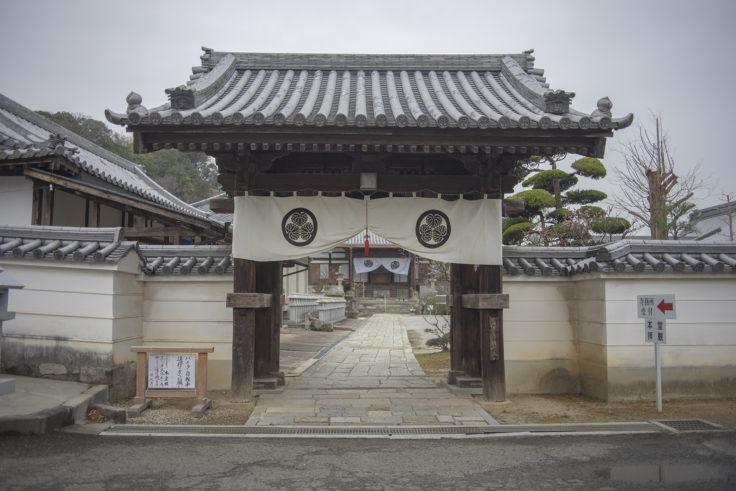 法然寺本堂門