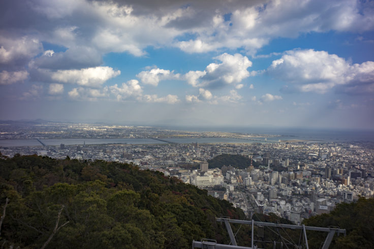 眉山から見た徳島市
