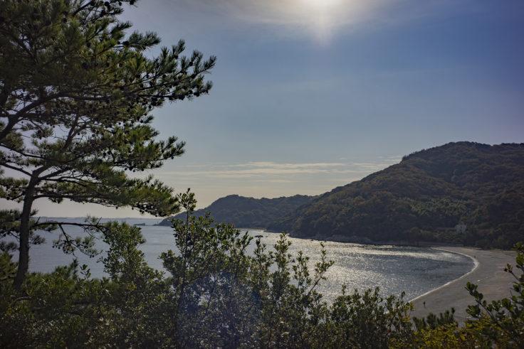 日峯大神子公園の半島からの眺め