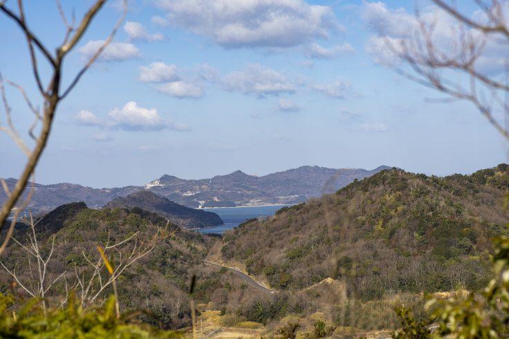 さぬきの森森林浴公園展望広場から見た海