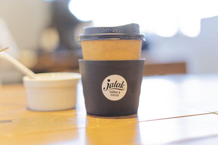 ジャラクの玄米カカオカレーについているコーヒー