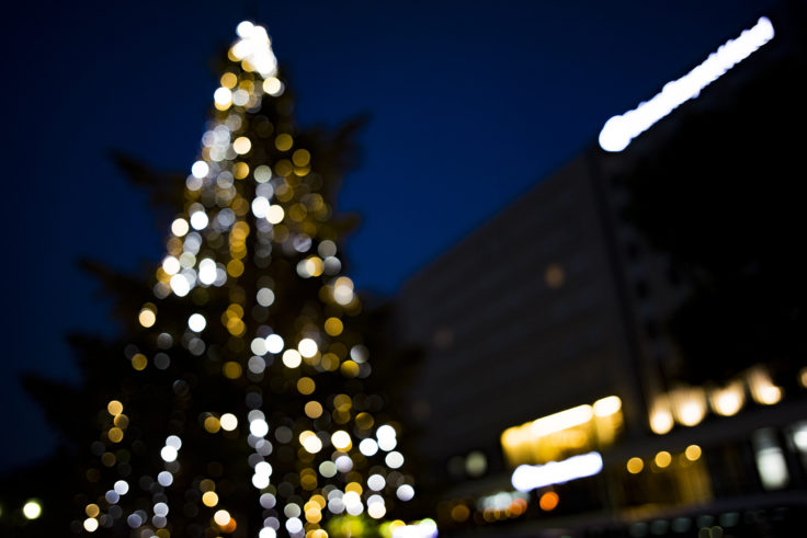 徳島駅のクリスマスツリー