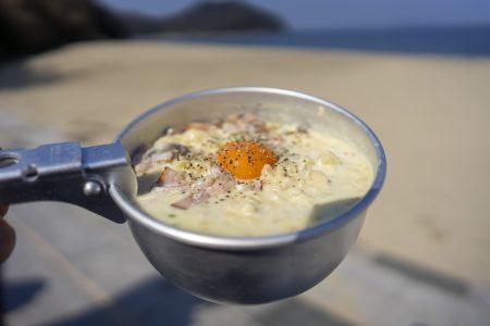 サッポロ一番塩ラーメンカルボナーラ