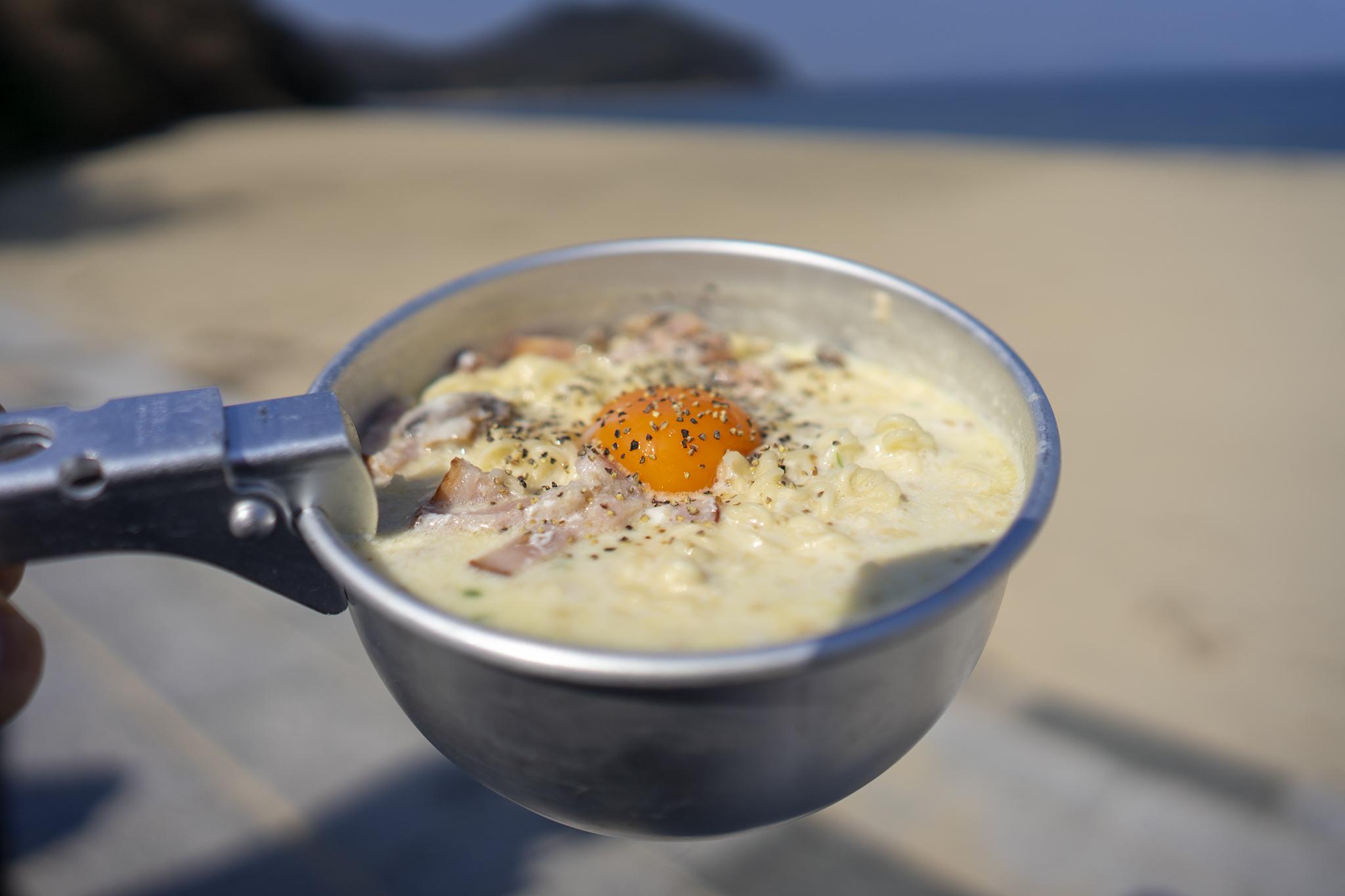 サッポロ一番塩ラーメンアレンジ第4弾「カルボナーラ風」