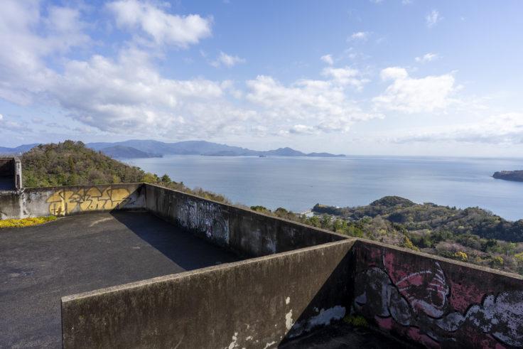 日盛山廃墟から見た瀬戸内海2