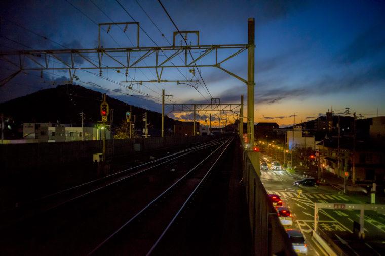 坂出駅からの夕焼け