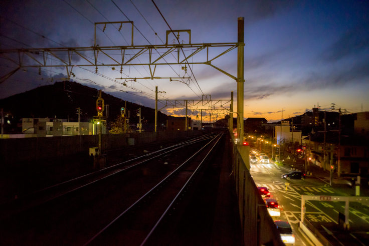 JR坂出駅の夕焼け