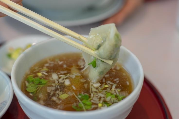 四川のDプレート(スープ餃子)
