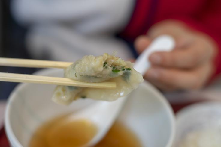 四川のDプレート(スープ餃子)中身