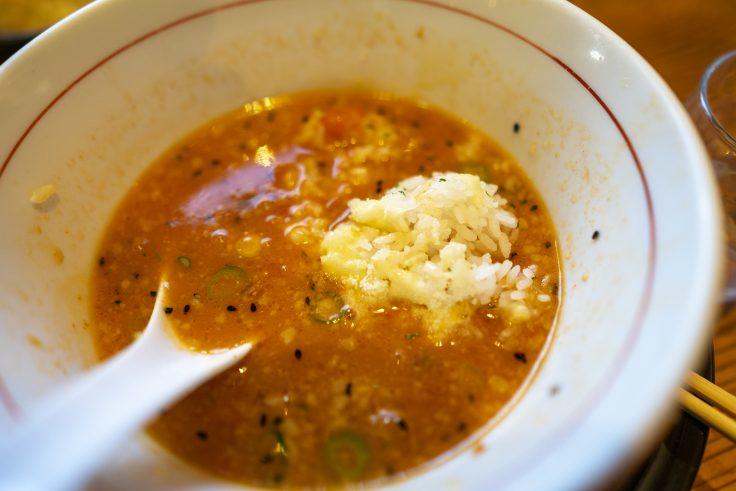 拉麺ひらりのリゾ飯をトマチリに