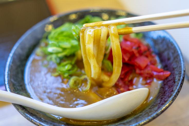 こだわり麺や高松郷東店のカレーうどんリフトアップ