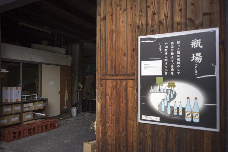 灘菊酒蔵瓶場