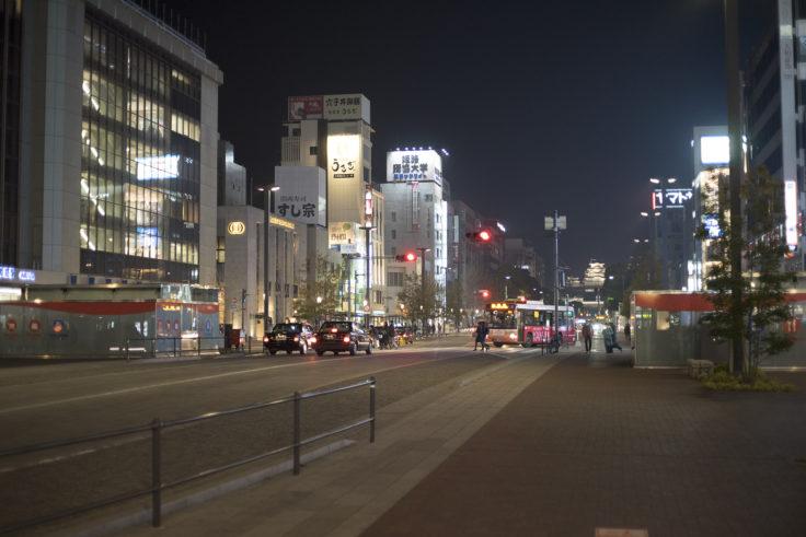 姫路駅前からの夜景姫路城